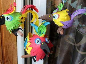 Изготовление попугаев из фоамирана. Ярмарка Мастеров - ручная работа, handmade.