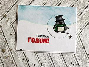Мастерим открытку «Пингвин». Ярмарка Мастеров - ручная работа, handmade.