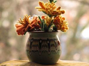 Валяем осеннюю хризантему. Ярмарка Мастеров - ручная работа, handmade.