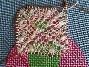 Начало квадратной или круглой шали спицами. Ярмарка Мастеров - ручная работа, handmade.