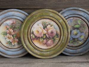 Очччень стильные и  красивые деревянные тарелочки)). Ярмарка Мастеров - ручная работа, handmade.