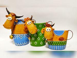 Бык, корова и теленок своими руками из папье-маше. Ярмарка Мастеров - ручная работа, handmade.