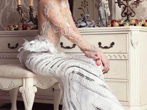 Сверкающее Свадебное платье Шарлотта. Ярмарка Мастеров - ручная работа, handmade.