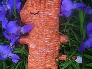 Лисичка-сплюшка примитив своими руками. Ярмарка Мастеров - ручная работа, handmade.