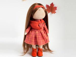 Текстильная кукла от макушки до пяточек. Ярмарка Мастеров - ручная работа, handmade.