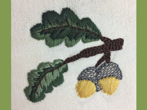 Вышиваем жёлуди. Ярмарка Мастеров - ручная работа, handmade.