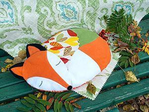 Как просто сшить подушку-Лисичку. Часть 2. Ярмарка Мастеров - ручная работа, handmade.