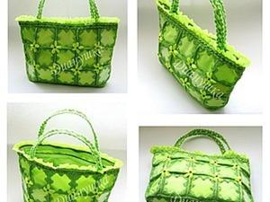 Создаем летнюю сумочку из пластиковых бутылок. Ярмарка Мастеров - ручная работа, handmade.