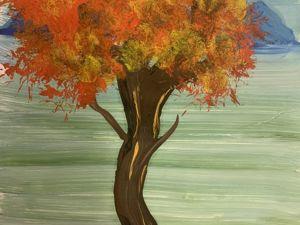 Рисуем дерево в технике правополушарного рисования. Ярмарка Мастеров - ручная работа, handmade.