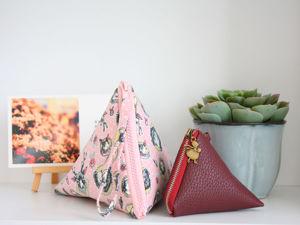 How to Sew Triangular Cosmetic Bag. Livemaster - hecho a mano - handmade.