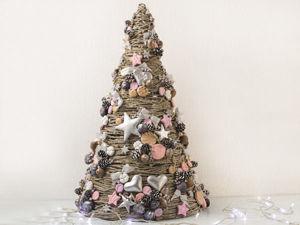 Создаем новогоднюю декоративную ёлочку. Ярмарка Мастеров - ручная работа, handmade.