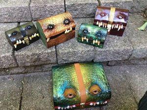 Чемоданы-монстры ручной работы из мастерской Fine Line. Ярмарка Мастеров - ручная работа, handmade.