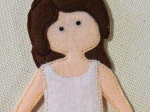 Шьем из фетра куколку Клэр в платье. Ярмарка Мастеров - ручная работа, handmade.