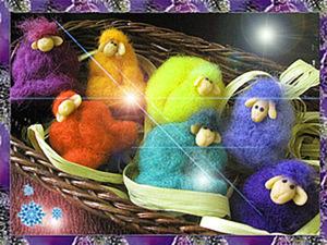 «Овечки с  добрыми пожеланиями»: изготовление новогоднего подарка-сувенира. Ярмарка Мастеров - ручная работа, handmade.