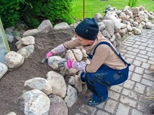 Каменная ограда-грядка. Строим своим руками. Ярмарка Мастеров - ручная работа, handmade.