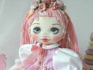 Делаем волосы из пряжи для куклы из ткани. Ярмарка Мастеров - ручная работа, handmade.