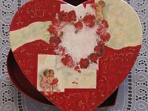 Декорируем картонную коробочку «Любимое сердце!». Ярмарка Мастеров - ручная работа, handmade.