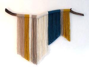 Простые идеи для дома: стильные панно из пряжи. Ярмарка Мастеров - ручная работа, handmade.