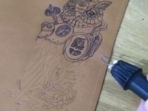 Пирография (выжигание) по коже. Часть 2. Ярмарка Мастеров - ручная работа, handmade.