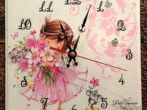Часы «Маленькая Кокетка». Ярмарка Мастеров - ручная работа, handmade.