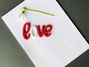 Мастер-класс по вязанию надписи ко дню святого Валентина. Ярмарка Мастеров - ручная работа, handmade.