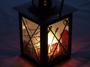 Роспись фонарика с матовым стеклом.. Ярмарка Мастеров - ручная работа, handmade.
