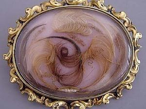 Украшение из волос: викторианский стиль. Ярмарка Мастеров - ручная работа, handmade.