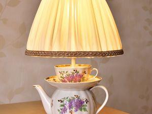 Настольные лампы из чашек. Алиса в стране чудес. Ярмарка Мастеров - ручная работа, handmade.