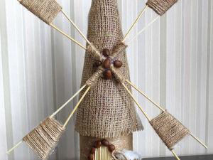 Создаем ветряную мельницу из джута. Ярмарка Мастеров - ручная работа, handmade.