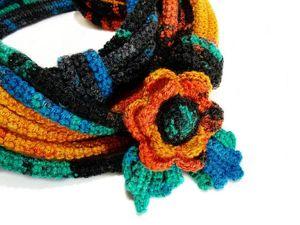 «Пламенные»  шарфобусы. Ярмарка Мастеров - ручная работа, handmade.