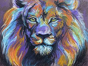 Видео мастер-класс: рисуем льва пастелью. Ярмарка Мастеров - ручная работа, handmade.