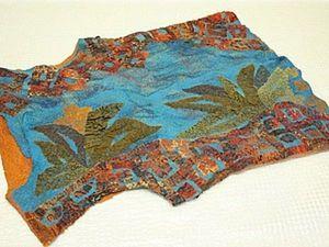 Felting a Vest with Silk Applique. Livemaster - handmade
