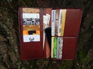 Как изготовить длинный бумажник из кожи своими руками. Ярмарка Мастеров - ручная работа, handmade.