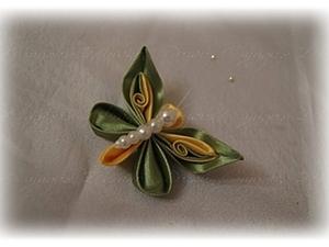 Мастер-класс:  Бабочка в технике Цумами Канзаши. Ярмарка Мастеров - ручная работа, handmade.