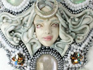 Богиня луны. Кулон ручной работы кристаллами. Ярмарка Мастеров - ручная работа, handmade.
