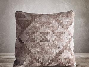 Виде мастер-класс: мастерим подушки для кресел из тканых ковриков. Ярмарка Мастеров - ручная работа, handmade.