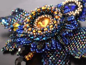 Брошь «Ночная птица». Часть 1. Серединка цветка. Ярмарка Мастеров - ручная работа, handmade.