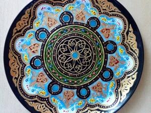 Декоративная тарелка в восточном стиле. Ярмарка Мастеров - ручная работа, handmade.