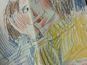 Задумчивая девушка. Ярмарка Мастеров - ручная работа, handmade.