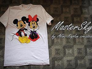 Как сделать рисунок на футболке красками по текстилю. Ярмарка Мастеров - ручная работа, handmade.