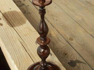 Процесс создания деревянного подсвечника с металлическими, травлёнными декорами. Ярмарка Мастеров - ручная работа, handmade.