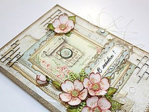"How to Make a Delicate Greeting Card ""With love!"". Livemaster - handmade"