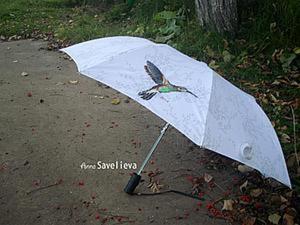 Преображаем зонтик с помощью вышивки. Ярмарка Мастеров - ручная работа, handmade.