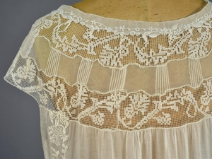 Boue Soeurs вышитое хлопковое платье, 1920. Ярмарка Мастеров - ручная работа, handmade.