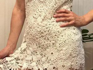 Платья. Платье вязаное крючком. Ярмарка Мастеров - ручная работа, handmade.