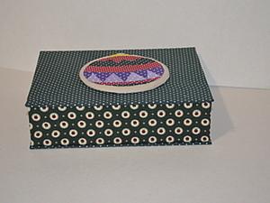 Коробка для подарка Елочный шар, часть 3 - крышка. Ярмарка Мастеров - ручная работа, handmade.