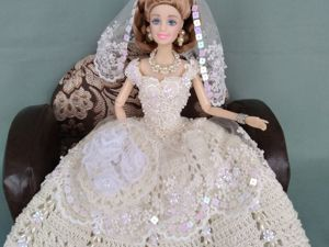 Новый наряд для кулы Барби Невеста Барби в кремовом!. Ярмарка Мастеров - ручная работа, handmade.