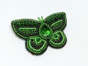Брошь  «Бабочка». Ярмарка Мастеров - ручная работа, handmade.