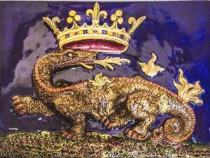 Символы геральдики Франции. Горностай, дикобраз, саламандра и лилия. Ярмарка Мастеров - ручная работа, handmade.