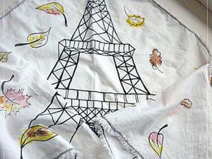 """Делаем шейный платок """"Осень в Париже"""": быстро и просто. Ярмарка Мастеров - ручная работа, handmade."""